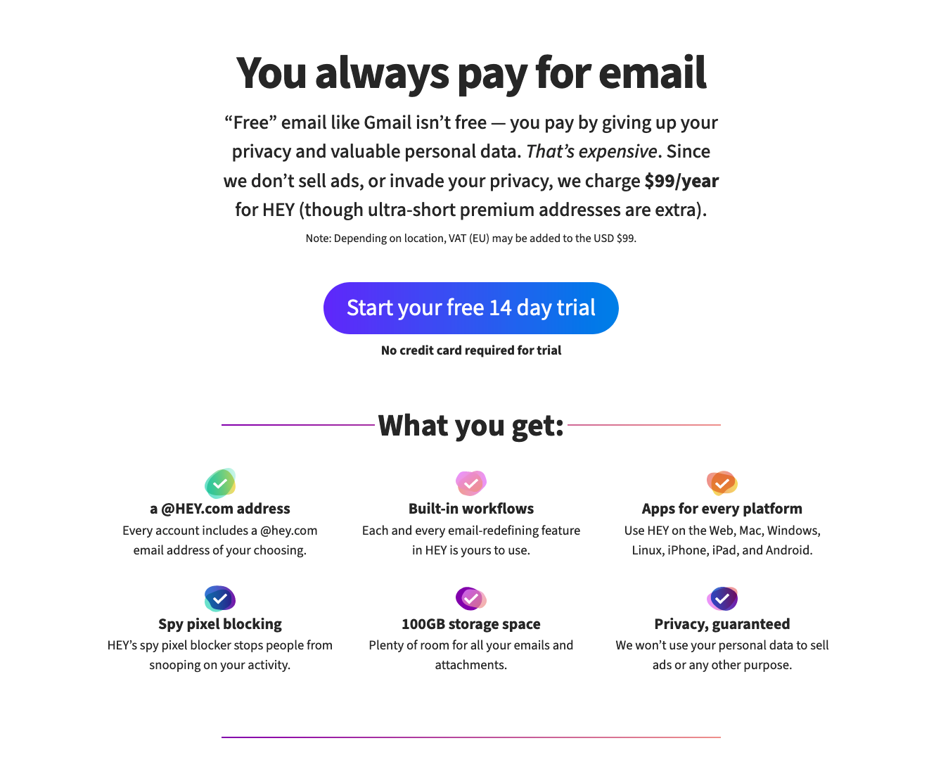 Basecamp, Privacy, Gmail, Hey, Email