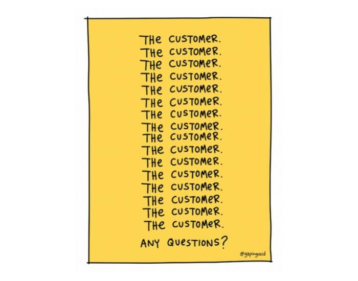 Gapingvoid, The Customer, Customer Obsessed